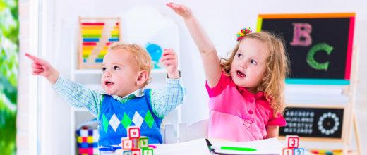 two children having fun